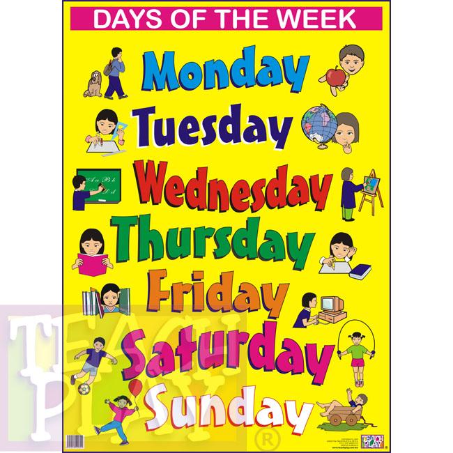week day names and team member