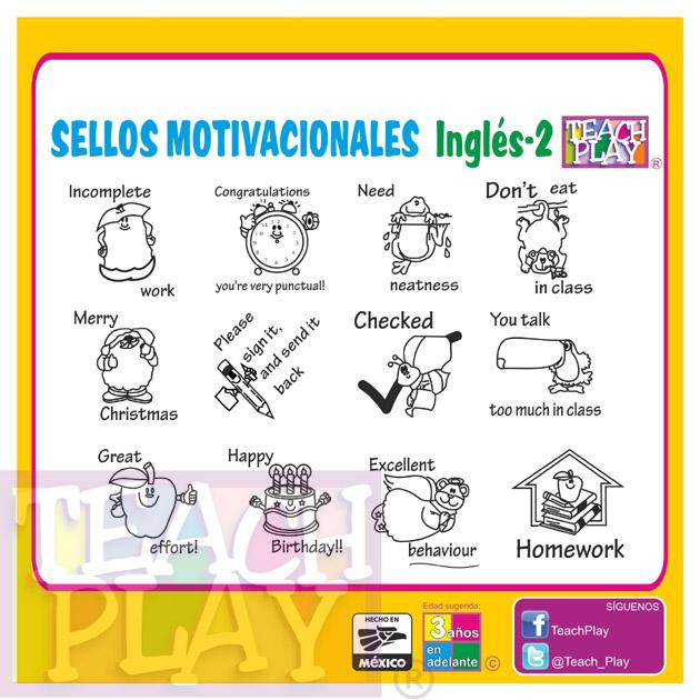 Sellos Motivacionales En Inglés Mod 2 Sellos Escolares
